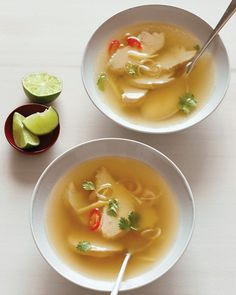 Thai Chicken Soup - this is the basis of the soup I often make. I add shiitake mushrooms and other goodies.