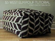artisan des arts: DIY West Elm style Pouf