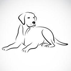 Vector image of an dog labrador                              …