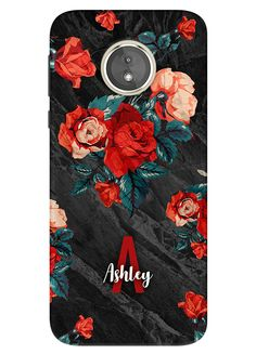 cbae78d43 Rose Floral Moto E5 Case, Moto E5 Plus Case, Moto E5 Play Case, Motorola E  5th Gen, Personalised Phone Case, Custom Name - 64