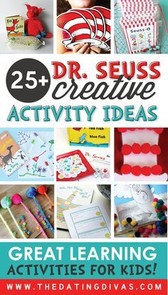This is the ULTIMATE list of Dr. Seuss inspired activities! Can't wait to use some of these for Dr. Seuss's Birthday! www.TheDatingDivas.com