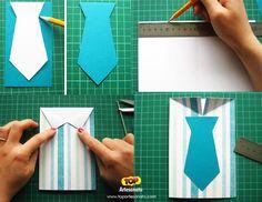 Cartão para Dia dos Pais - Artesanato - Modelo 1 - Passo a Passo