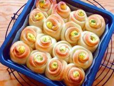 オリーブオイル仕込み。ハムマヨちぎりパンの画像