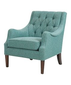This Teal Oren Button-Tufted Chair by JLA Home is perfect! Club Chairs, Room Chairs, Side Chairs, Bag Chairs, Fabric Chairs, Eames Chairs, Lounge Chairs, Accent Chairs, Wood