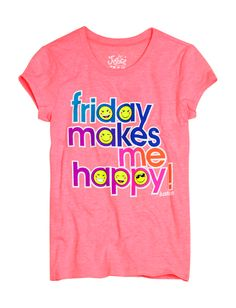Happy Friday Graphic Tee | Bffs And Faves | Graphic Tees | Shop Justice