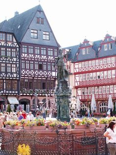 Frankfurt,Germany - Spent lots of time in the Romer Platz in Frankfurt!