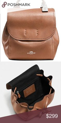 bb8dc8bd11ff Coach Saddle Brown Backpack
