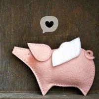 Cute little pig, simple shape x