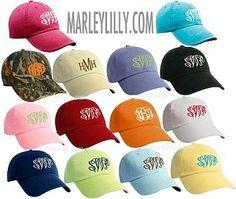 Monogrammed Baseball Hat | Marley Lilly