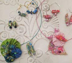 made with yo-yo's, paint. lutrador, solu-vlies, tyvek, beads and felt
