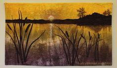 Hidden Quilt Binding Tutorial by Nancy Zieman. Perfect quilt binding for art quilts.  Gorgeous landscape quilt.