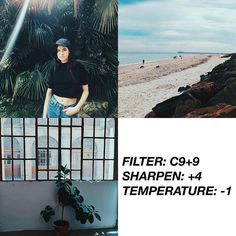 VSCOCAM Filter: C9+9  Sharpen: +4  Temperature: -1 - Kind of similar to Lucky's blue filter. I prefer this if you want a blue feed. Get this filter for free with the link on my bio! Tutorial on @filtertexture #vsco#vscocam#vscofilter