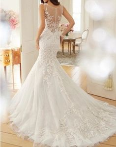 AN497 White Chapel Train Lace Mermaid Bridal Wedding Dress Evening Party Prom Gown Ball Dress (6) Valio Fashion http://www.amazon.co.uk/dp/B00PWGPXZO/ref=cm_sw_r_pi_dp_3AiRub1NEV7GK