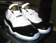 e1a9622a6f27 Air Jordan XI Youth Big Boy Low Concord Bred Six Rings Metallic Gold White  Black Air