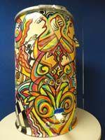 InterLinc: Artistic Rain Barrel Program: Annie Redfern, Face it and Dance Painted Trash Cans, Rain Barrels, Annie, Face, Artist, Artists, Rain Barrel, The Face, Faces