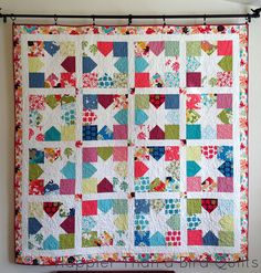 Charming Stars by HappierThanABirdQuilts, via Flickr