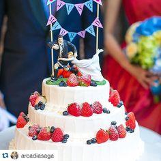 #Repost @arcadiasaga with @repostapp. ・・・ ウエディングケーキ♡ケーキトッパーとガーランドでオシャレandシンプルに! #arcadia#saga#cake#caketopper#love#kawaii#wedding#weddingcake#caketopper#ウエディングケーキ#ケーキトッパー#結婚式#結婚式場#omotenashi#佐賀 結婚するならアルカディア‼︎ #すごくタイプのケーキ