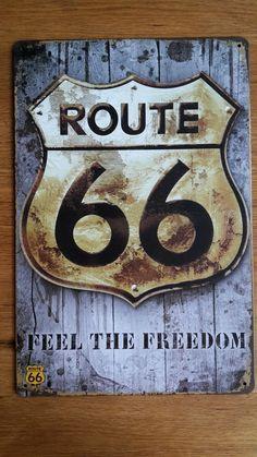 Route 66, de meest bekende snelweg ter wereld.  Bezongen in liedjes, te zien in films, misschien wel een herinnering uit een reis. Route 66, Freedom, Films, Feelings, Vintage, Home Decor, Rice, Liberty, Movies