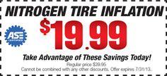 Nitrogen Tire Inflation $19.99