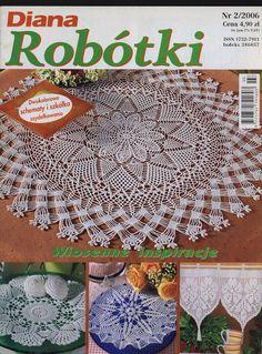 dr_2006_02 - Aga Paj - Picasa Web Albums Crochet Book Cover, Crochet Books, Crochet Art, Filet Crochet, Crochet Motif, Crochet Doilies, Crochet Patterns, Russian Crochet, Diana