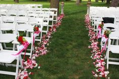 I like that they only put flowers on the first two rows to indicate that they are reserved rows.
