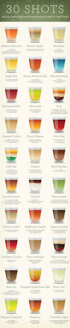 A Guide to 30 Different Delicious Shots You've Always Been Too Shy to Order |Foodbeast