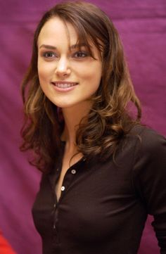 Keira Knightley, a modern classic beauty, star of Pirates of the Caribbean, Bend it Like Beckham, Love Actually, and Pride and Prejudice. #keiraknightley #brunette #brunettes #seethrough #pokies