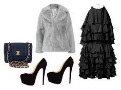 """Look do Dia"" by maispoderosa on Polyvore featuring moda, Balmain, Chanel e Jakke"