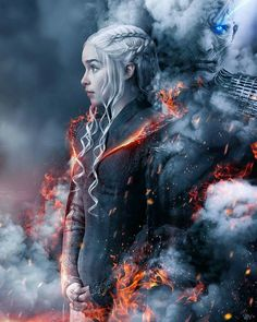 Fire and Blood. Game of thrones fan art edit. Daenerys Targaryen