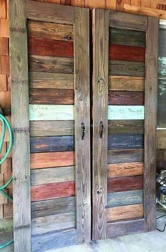 rustic pallet doors I need to figure out how to make bypass barn doors for my closet. These would be awesome!
