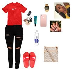 """""""Untitled #213"""" by baby-crooksanford ❤ liked on Polyvore featuring NIKE, G-Shock and MICHAEL Michael Kors"""