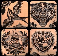Traditional style tattoos #flash #painting #tattoo