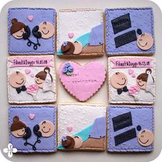 Valentine Cookies, Cupcake Cookies, Sugar Cookies, Valentines Day, Cupcakes, Polymer Clay Crafts, Popsicles, Freckles, Cake Designs