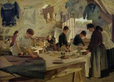 Ironing Workshop in Trouville, 1888 (oil on canvas) by Louis Joseph Anthonissen (1849-1913)