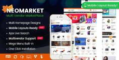 NeoMarket - Modern Multi-Vendor WooCommerce Theme (Mobile Layout Ready).IF you want TO build a multi-vendor marketplace LIKE Alibaba OR Amazon, try NeoMarket now. This IS a modern multi-vendor WooCommerce theme we build TO fit ANY online shopping store OR marketplace.WITH 02+ professional homepage designs, mobile layout ready, multi-vendors support AND lots of hot e-commerce features, NeoMarket wi... Homepage Design, Web Design, Mobile Shop, Mobile Mobile, Best Mobile, Mobile Friendly Website, Mega Menu, Blog Layout, Premium Wordpress Themes