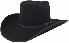29701ee1c10 Cuernos Chuecos 6X Black Bull Rider Felt Hat Western Wear