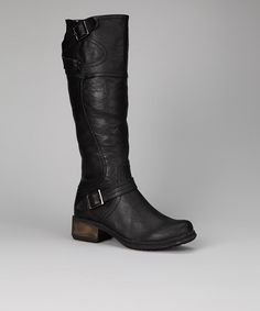 $39.99 So glad I bought this pair. Take Very warm and stylish for winter.  Take a look at this Black Helena Boot by Luxe Looks: Women's Shoes on @zulily today!