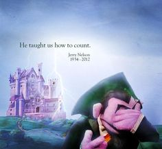 RIP \\ Jerry Nelson, the voice of the Count, passed away today, Sesame Street. Mejores Series Tv, Sesame Street Muppets, Fraggle Rock, Sad Day, Jim Henson, Kermit, Make Me Smile, Childhood Memories, Counting