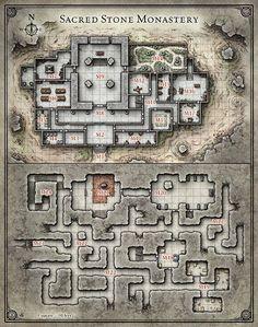 """Résultat de recherche d'images pour """"fantasy monastery map"""""""