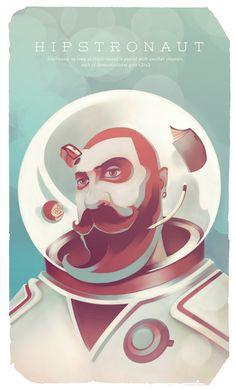 Hipstronaut by Thomas Rohlfs, via Behance