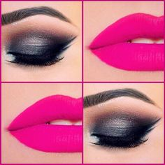 BOLD Make-up. Limit your clothing to a more subdued look so this bold choice becomes the statement.