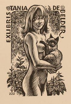 ex libris by Frank-Ivo van Damme for Tania De Belder