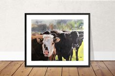 Cow Painting, Cow Art, Cow PRINT - Cow Oil Painting, Holstein Cow, Farm Animal Art, Farmhouse Art, Prints of Farm Animals, Farm Wall Art by JamesCoatesFineArt2 on Etsy Holstein Cows, Cow Painting, Cow Art, Farm Animals, Original Paintings, Moose Art, Farmhouse, Interiors, Oil