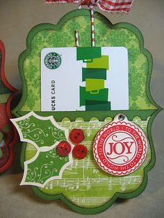 Olivia- Starbuck's gift card.  Annette's Creative Journey: Holiday Workshop Sneak Peek #3