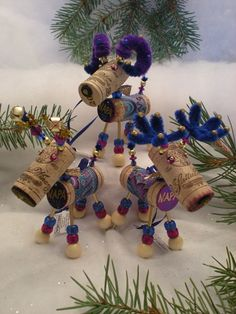 WINE CHRISTMAS ORNAMENT - Winedeer-Very Merry Moose-Bighorn Sheep-Dolcetto