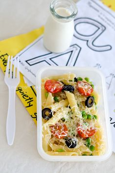 Ideas for healthy school lunches...pasta salad with with lots of vegs grilled chicken light dressing. Elijah would love this!