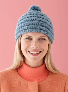 """Corrugated Cap:1 skein Vanna's Choice Yarn - #4 (170 yards);# 9 Circular (16"""")"""