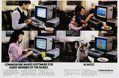 Hilarious and Awesome Computer Ads from the Golden Age of PCs Vintage Advertisements, Vintage Ads, Vintage Style, Future Of Marketing, Pc Console, Mobile Advertising, Funny Internet Memes, Great Ads, Home Computer