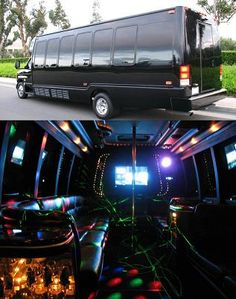 Party bus - Young kids, teens & older all enjoyed this party. Lots of games both inside & on the big screen tvs they have on the outside of the bus. Loud music synced with a plethora of d.j. lights made for a party atmosphere.