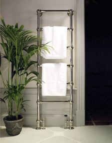 Drummonds traditional heated towel rails are custom made to order. Each towel rail is hand crafted from solid brass, the ultimate luxury towel rail. Bathroom Heat Lamp, Towel Rack Bathroom, Small Bathroom Storage, Master Bathroom, Bathroom Grey, Ux Design, Design Ideas, House Design, Towel Warmer
